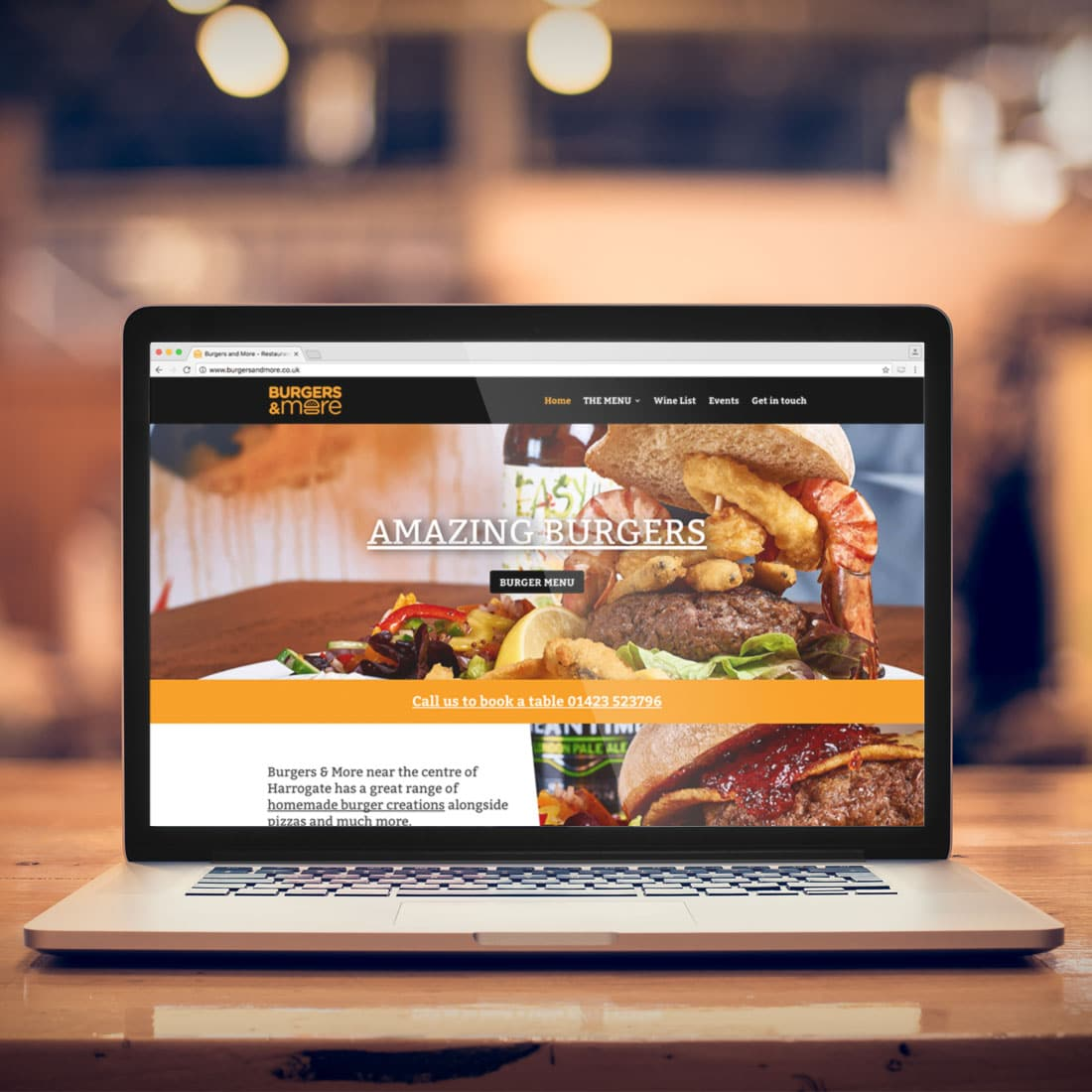 Burgers & More Website